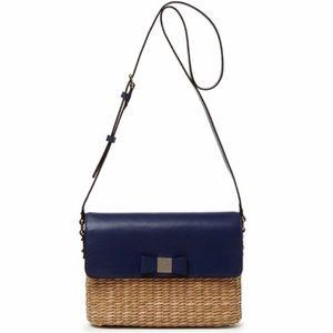 Kate spade Via Limoni Clara Crossbody Straw Bag